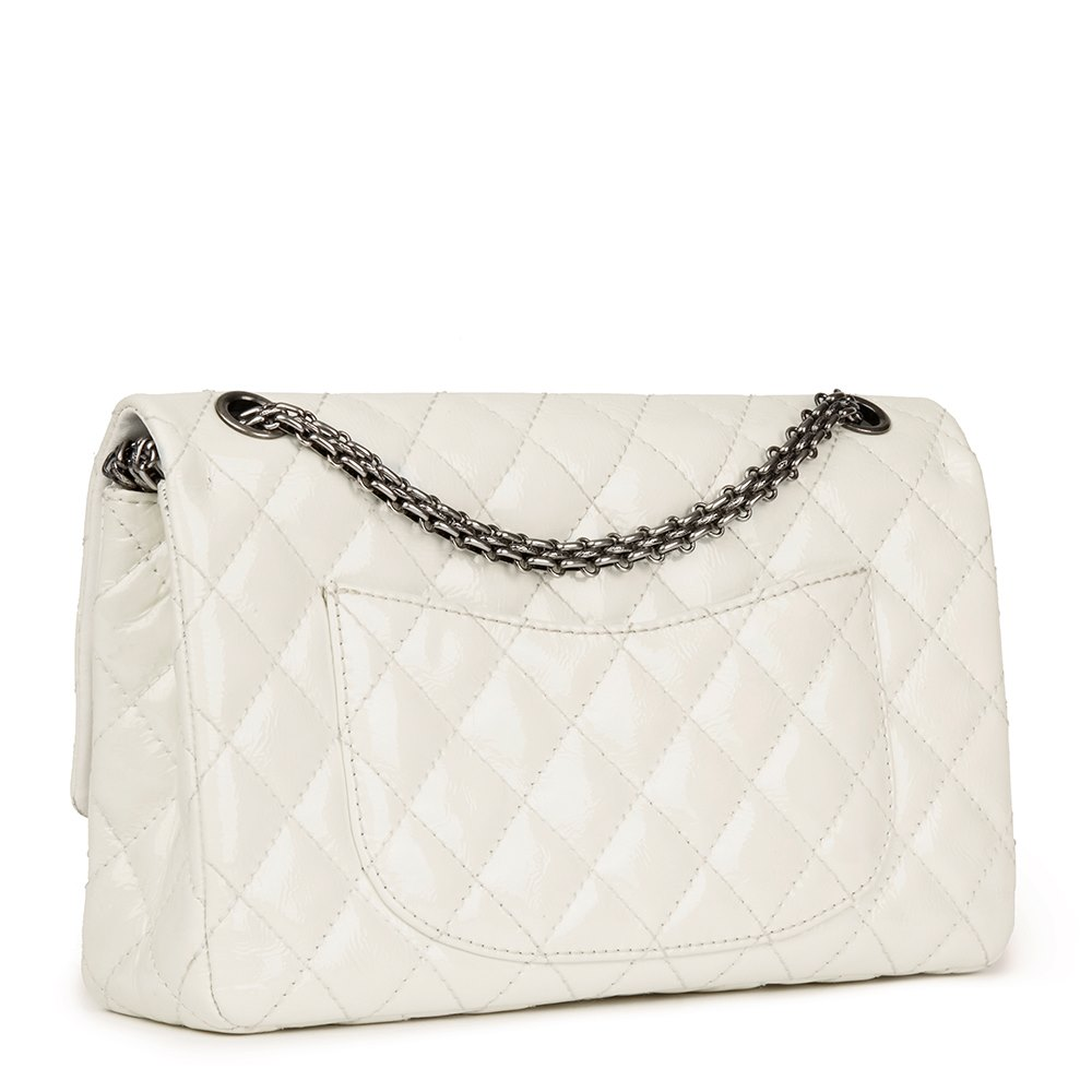 6ec921fc86f95a Chanel Milk-White Quilted Patent Leather 2.55 Reissue 226 Double Flap Bag