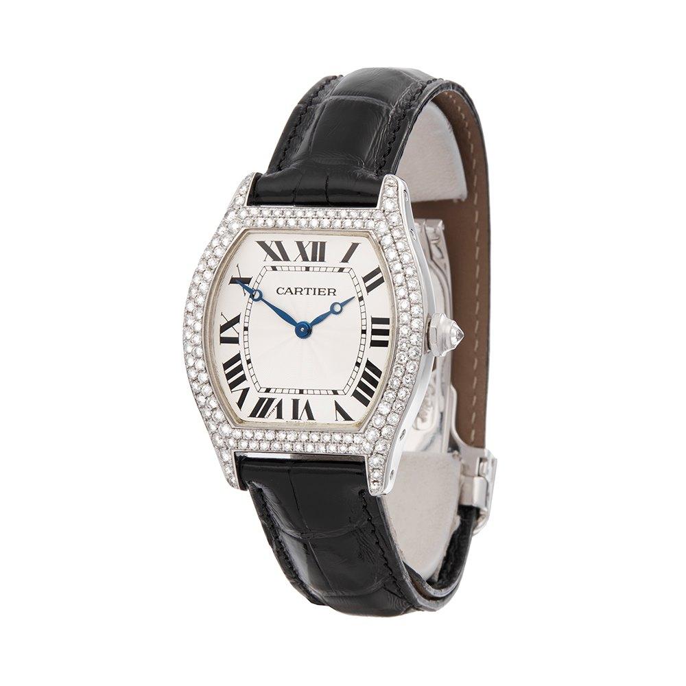 Cartier Tortue Diamond 18K White Gold WA503851