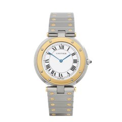 Cartier Santos Ronde Stainless Steel & 18K Yellow Gold - 8191