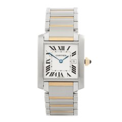 Cartier Tank Francaise Stainless Steel & 18K Yellow Gold - 2465 or W51012Q4