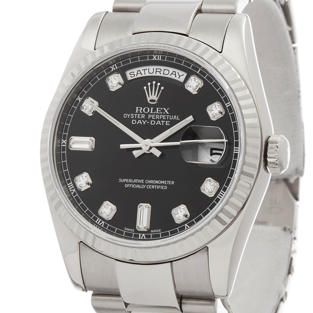 Rolex Day-Date 36 Diamond 18k White Gold 118239