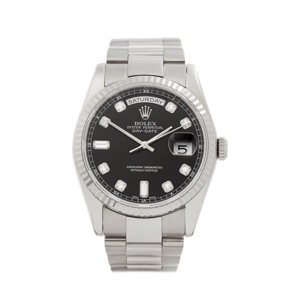 Rolex Day-Date 36 Diamond 18k White Gold - 118239