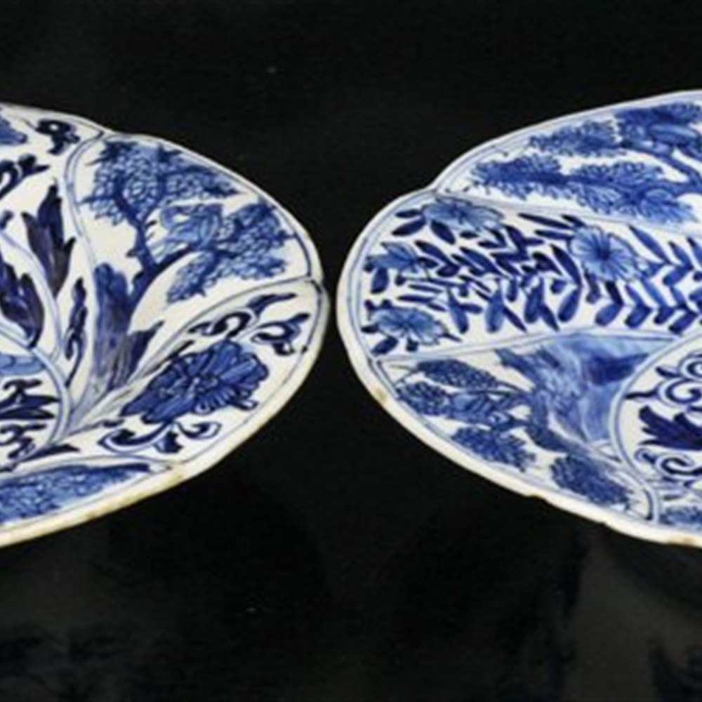 PAIR KANGXI PLATE WITH BIRDS Kangxi 1662 - 1722