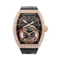 Franck Muller Gravity Skeleton Tourbillon 18K Rose Gold - V 45 T CS D 5N NR