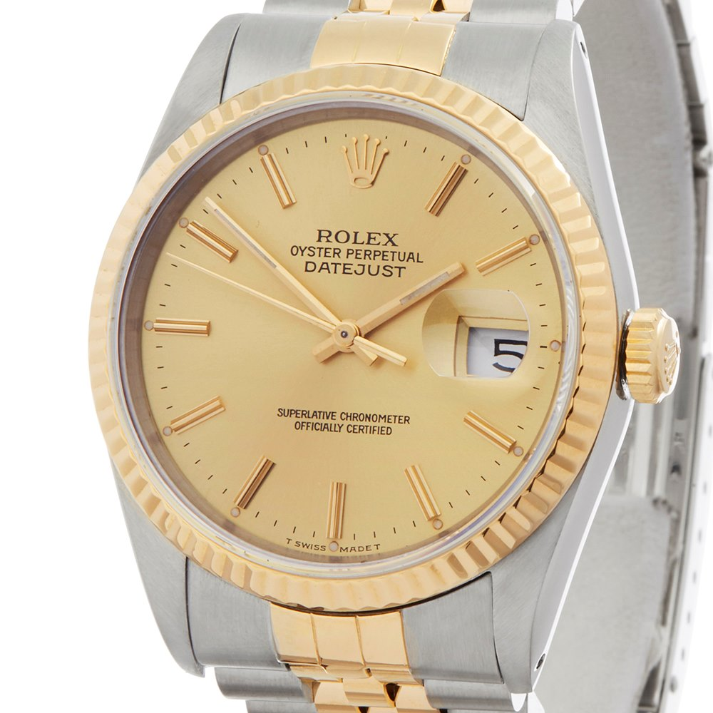 Rolex DateJust 36 Stainless Steel & Yellow Gold 16233