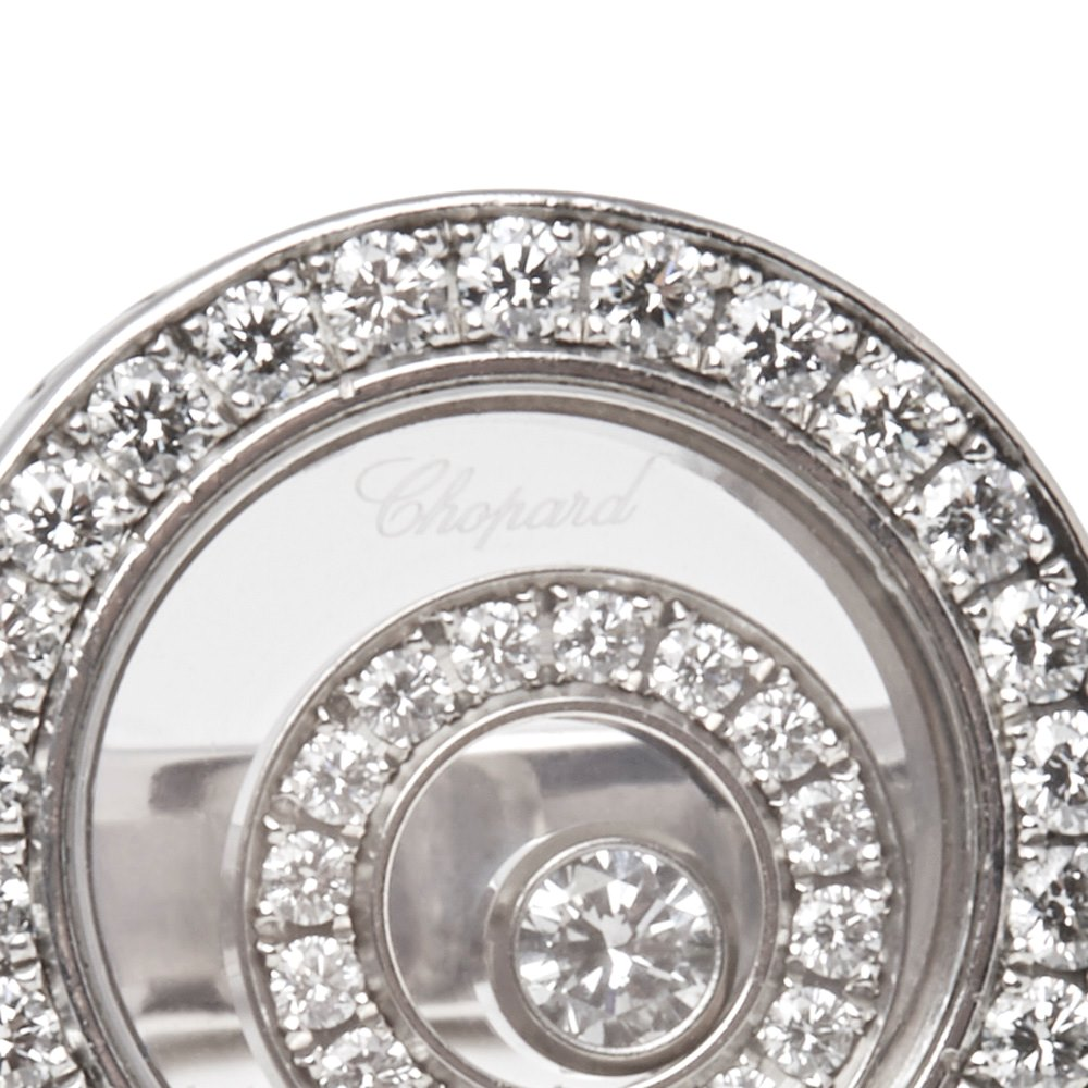 Chopard 18k White Gold Happy Spirit Ring