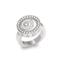 Chopard 18k White Gold Happy Spirit Ring