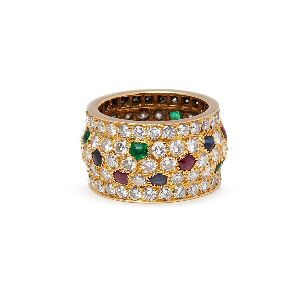 Cartier 18k Yellow Gold Multi-Gemstone Nigeria Band Ring