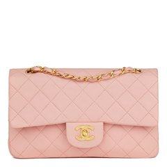 Chanel Pink Quilted Lambskin Vintage Small Classic Double Flap
