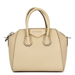 Givenchy Beige Goatskin Leather Mini Antigona Tote