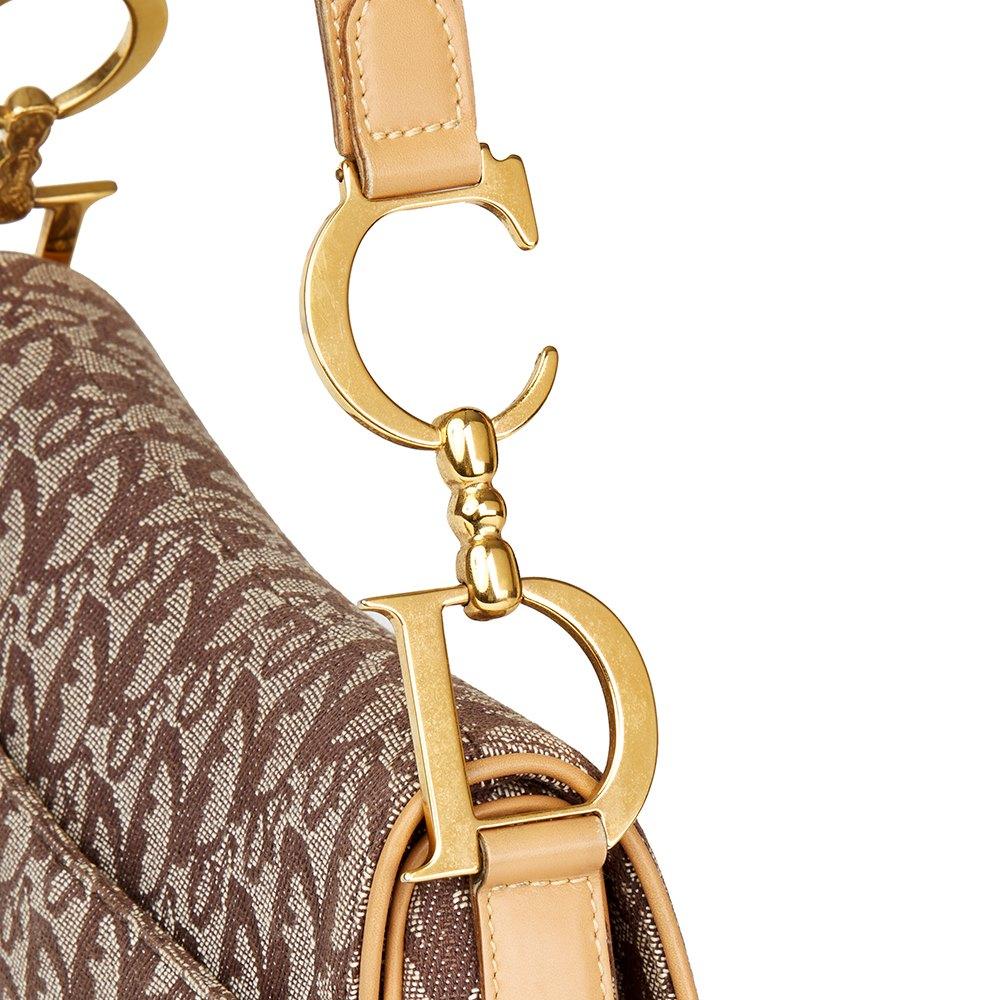 Christian Dior Brown Monogram Canvas Saddle Bag 8a6b7b123a69b