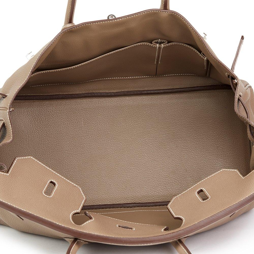 587139beae0 Hermès Etoupe Togo Leather Shoulder Birkin II