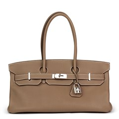 Hermès Etoupe Togo Leather Shoulder Birkin II