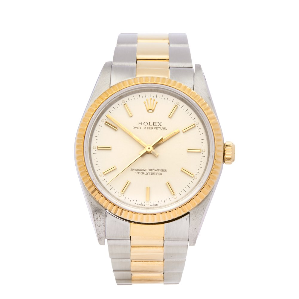 d93f97c7205a Rolex Oyster Perpetual 34 Stainless Steel   18K Yellow Gold 14233