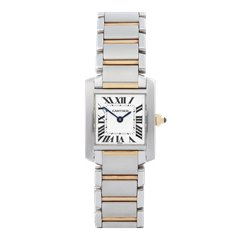 Cartier Tank Francaise Stainless Steel & 18K Yellow Gold - W51007Q4