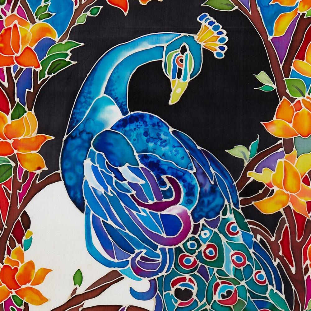 Silk Batik W. Jagger Peacock 2017 WTWJ12
