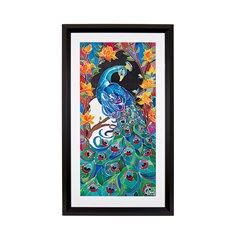 Winifred Jagger, Peacock, Silk Batik Painting 2017