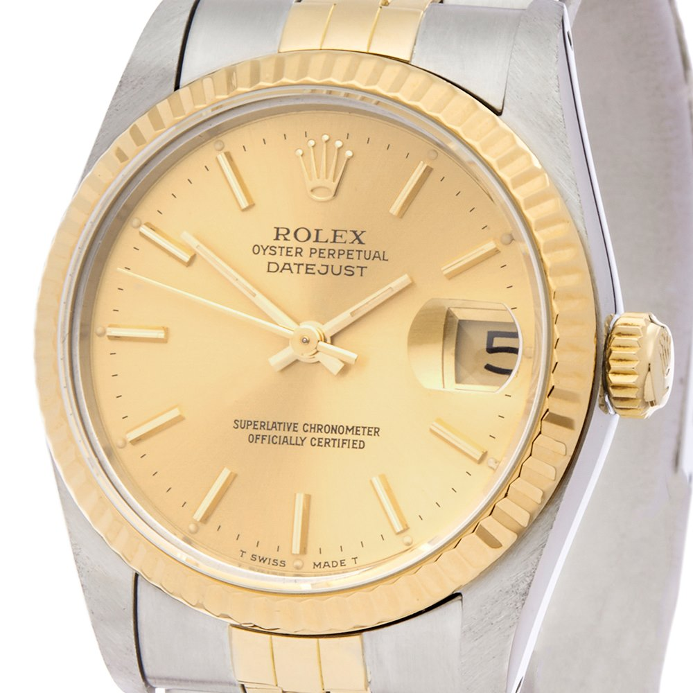 Rolex DateJust 31 Stainless Steel & Yellow Gold 68273