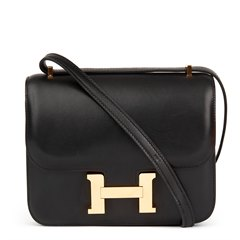 Hermès Black Swift Leather Constance Mini