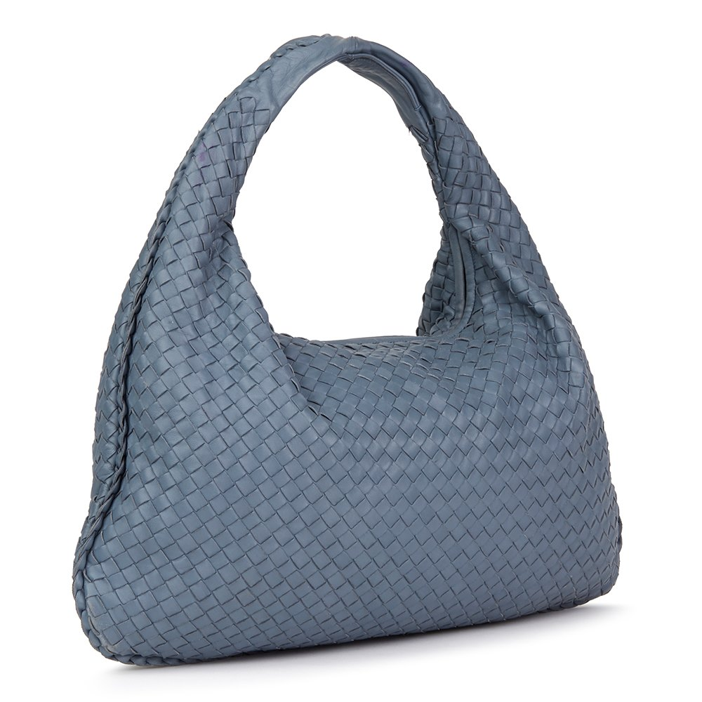 22c656324dbd Bottega Veneta Light Tourmaline Woven Lambskin Medium Veneta Bag