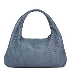 Bottega Veneta Light Tourmaline Woven Lambskin Medium Veneta Bag