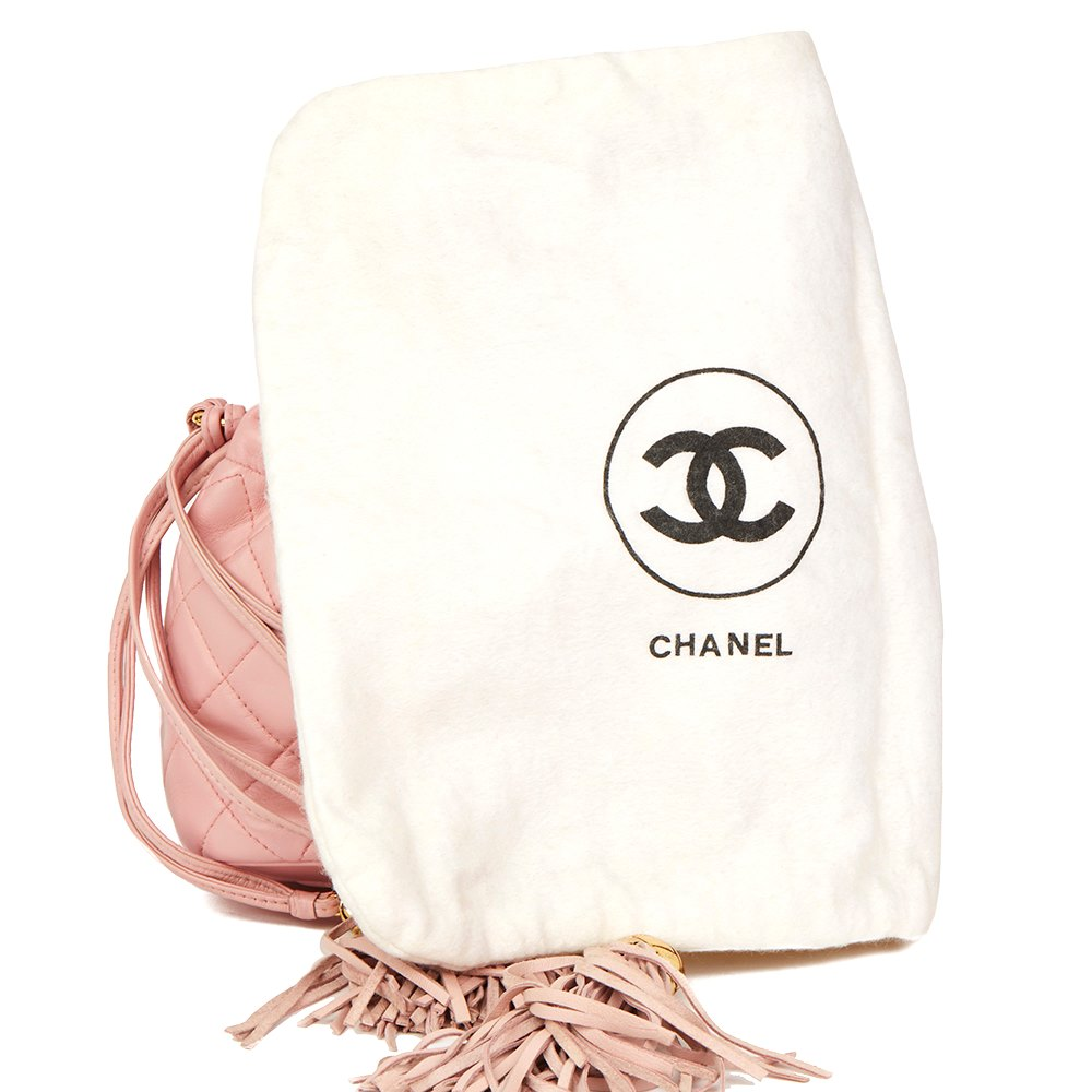 9b9c7f2e076b2 Chanel Pink Quilted Lambskin Vintage Timeless Bucket Bag
