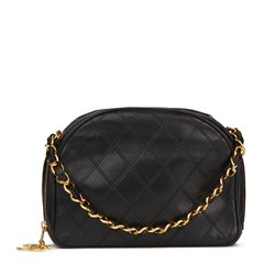 Chanel Black Quilted Lambskin Vintage Timeless Charm Bag