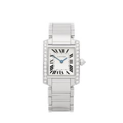 Cartier Tank Francaise Diamond 18K White Gold - WE1002S3