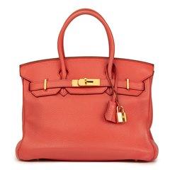 Hermès Bourgainville Clemence Leather Birkin 30cm
