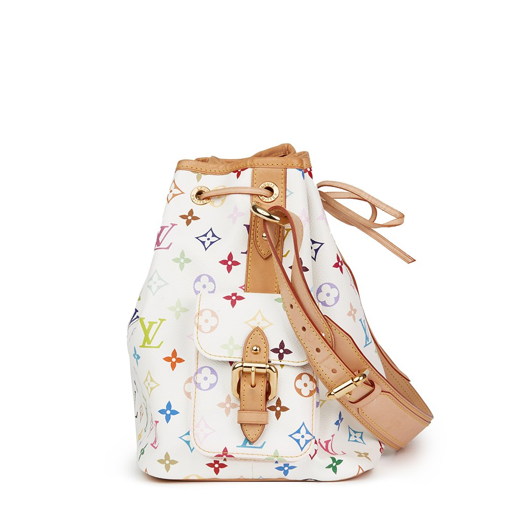 Louis Vuitton 2008 Louis Vuitton White Multicolore Monogram Coated Canvas Petit Noe F6VdYomg