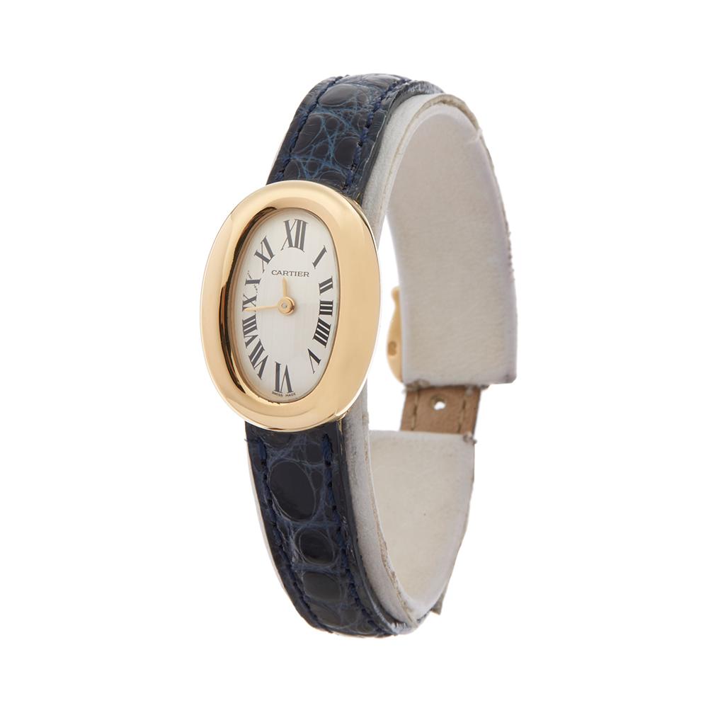 Cartier Baignoire Mini 18k Yellow Gold Watch W1536699 Com1612 Ebay