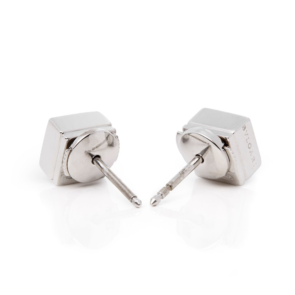 Bulgari 18k White Gold Diamond Lucéa Stud Earrings