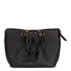 Louis Vuitton Black Embossed Empreinte Leather Mazarine MM