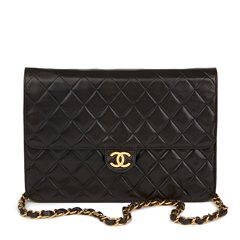 Chanel Black Quilted Medium Vintage Classic Single Flap Bag
