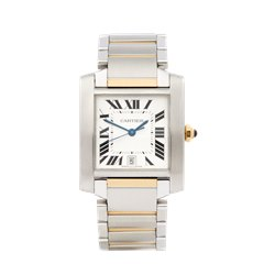 Cartier Tank Francaise Stainless Steel & 18K Yellow Gold - W51005Q4