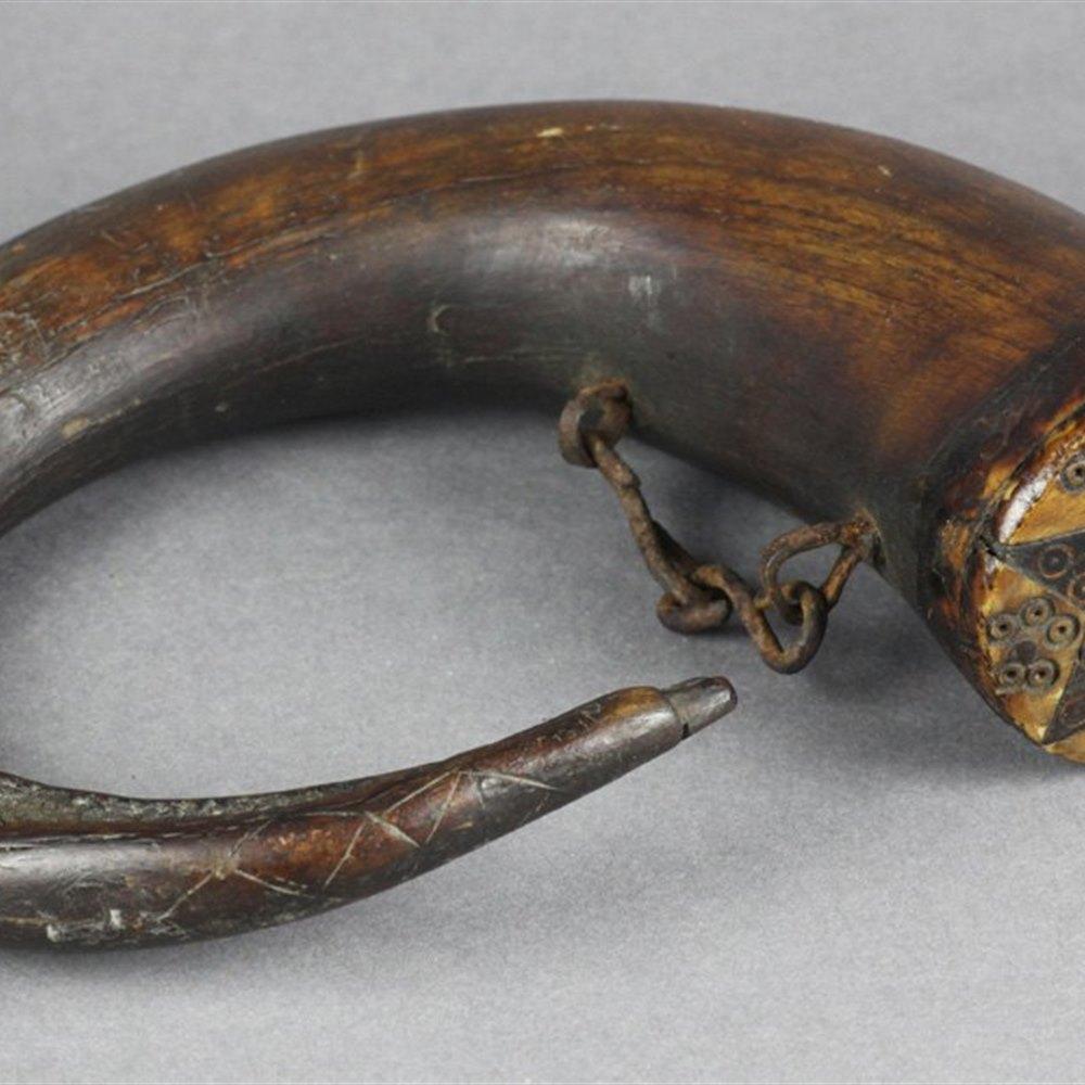 SCOTTISH HORN SNUFF MULL 18th / 19th Century