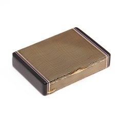 Cartier 18k Gold & Enamel Art Deco Vanity Case