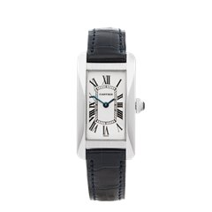 Cartier Tank Americaine 18K White Gold - W2601956