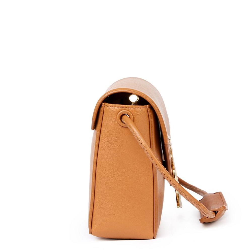 Christopher Kane Tan Calfskin Leather Gothic K Devine Donated By Christopher Kane