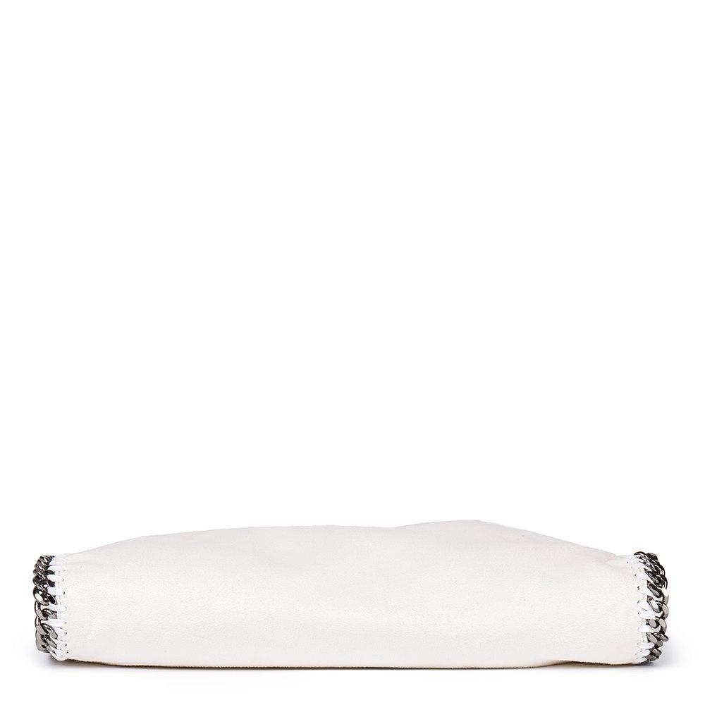 Stella Mccartney White Artificial Leather Medium Falabella Tote Donated By Stella Mccartney