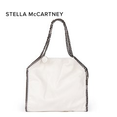 Stella Mccartney White Artificial Leather Medium Falabella Tote Donated By Stella Mccartney