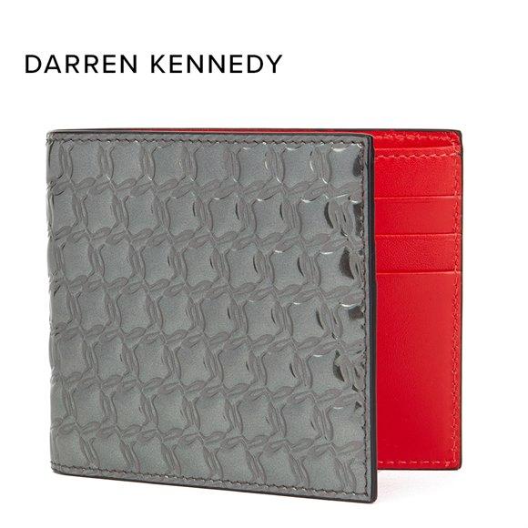 Christian Louboutin Gunmetal Mirror Patent Leather Kaspero Wallet Donated By Darren Kennedy