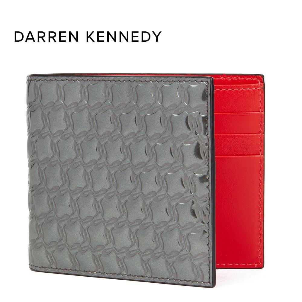 Gunmetal Mirror Patent Leather Kaspero Wallet Donated By Darren Kennedy