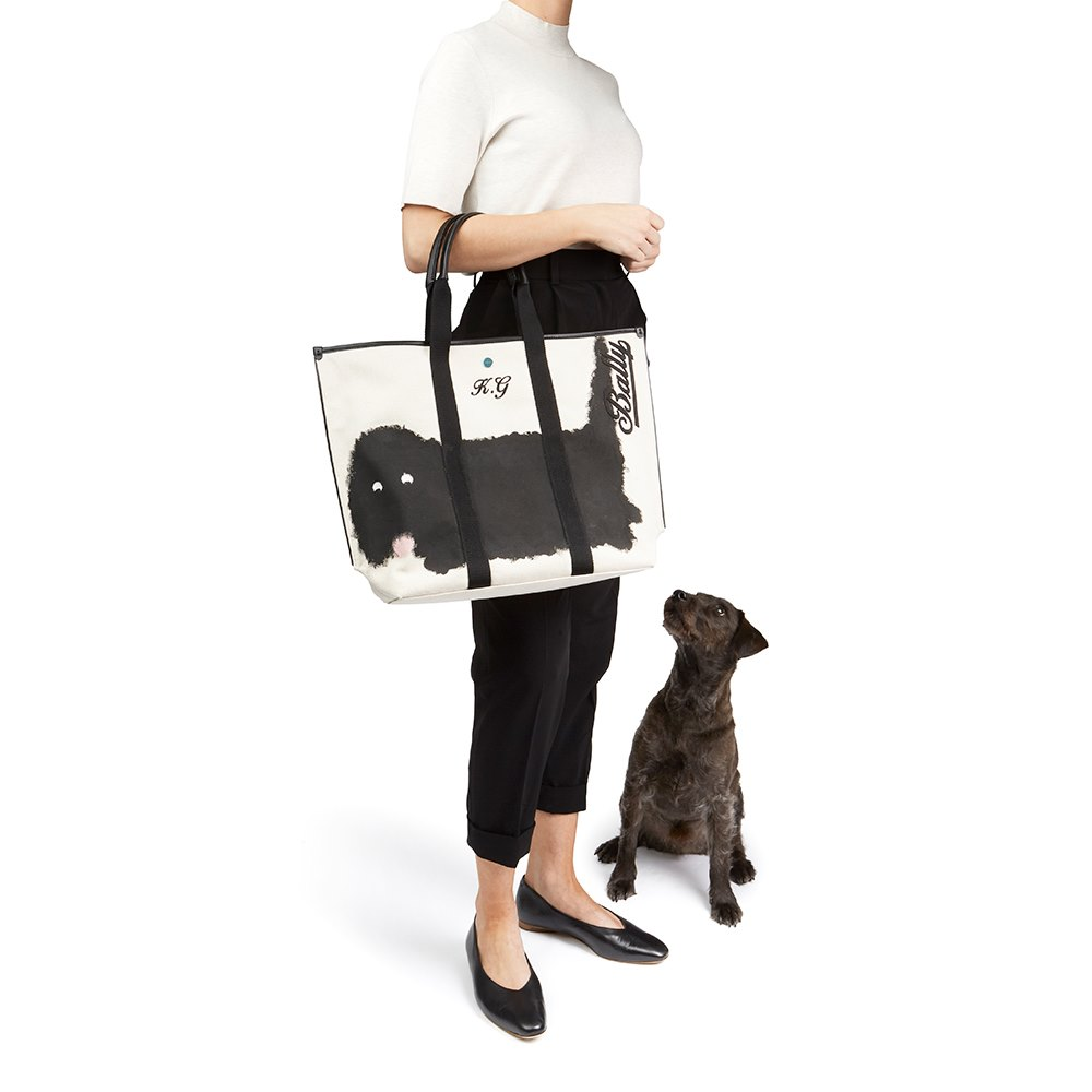 Bally Beige Canvas Customised Medium Canvas Tote Donated By Katie Grand