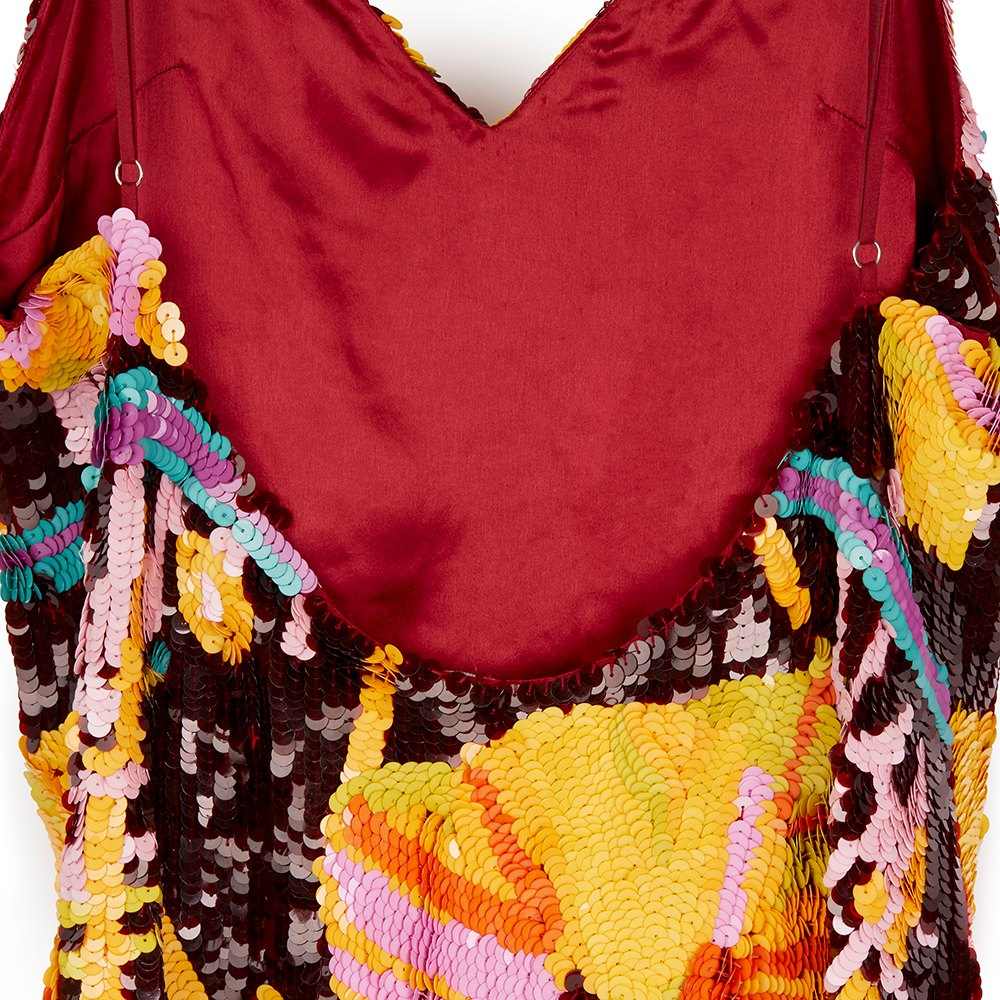 House Of Holland Multicolour Minerva Embellished All Over Sequin Slip Dress Donated By Henry Holland