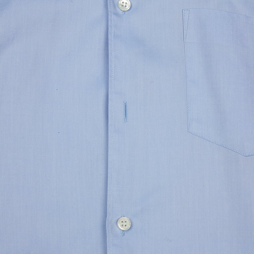 Comme Des Garçons Blue & Pink Cotton Block Colour Short Sleeve Shirt Donated By Sam Mcknight