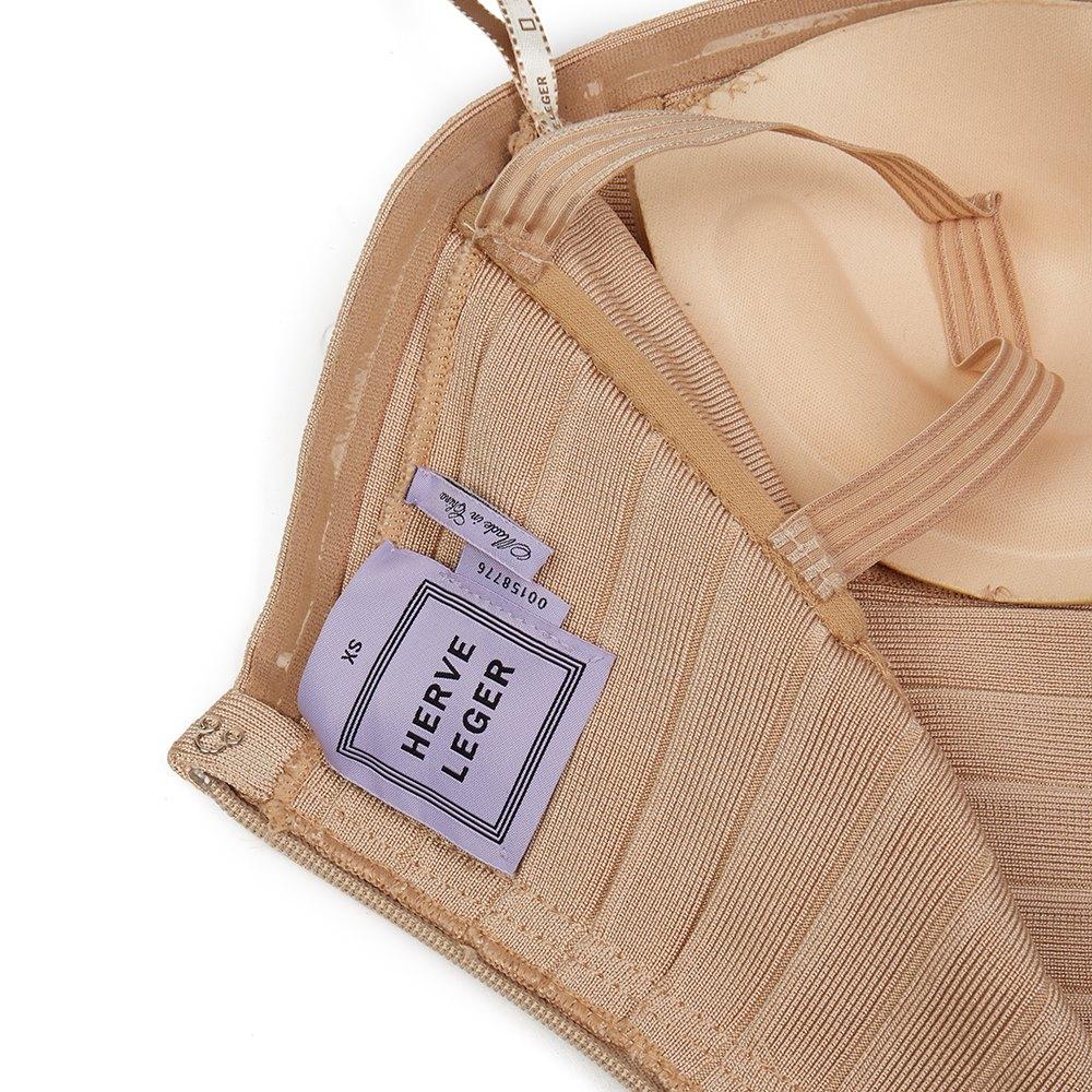 Hervé Léger Stone Strapless Bandage Dress & Signed Photograph donated by Paris Hilton