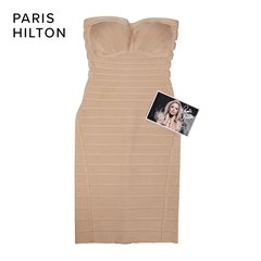 Hervé Léger Stone Strapless Bandage Dress & Signed Photograph donated by Paris Hilton