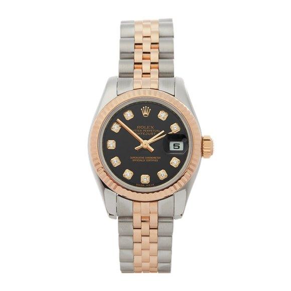 Rolex DateJust 26 Diamond Stainless Steel & Rose Gold - 179171