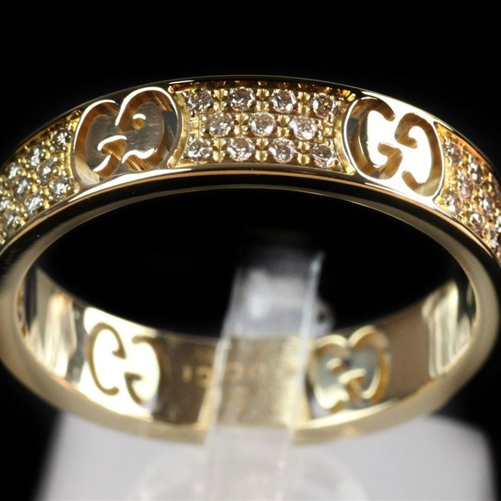 6ed445371 Gucci Gucci Icon Stardust 18k Yellow Gold & Diamond Ring J057 ...